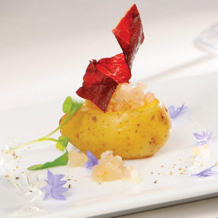 Miniraclette en pommes de terre