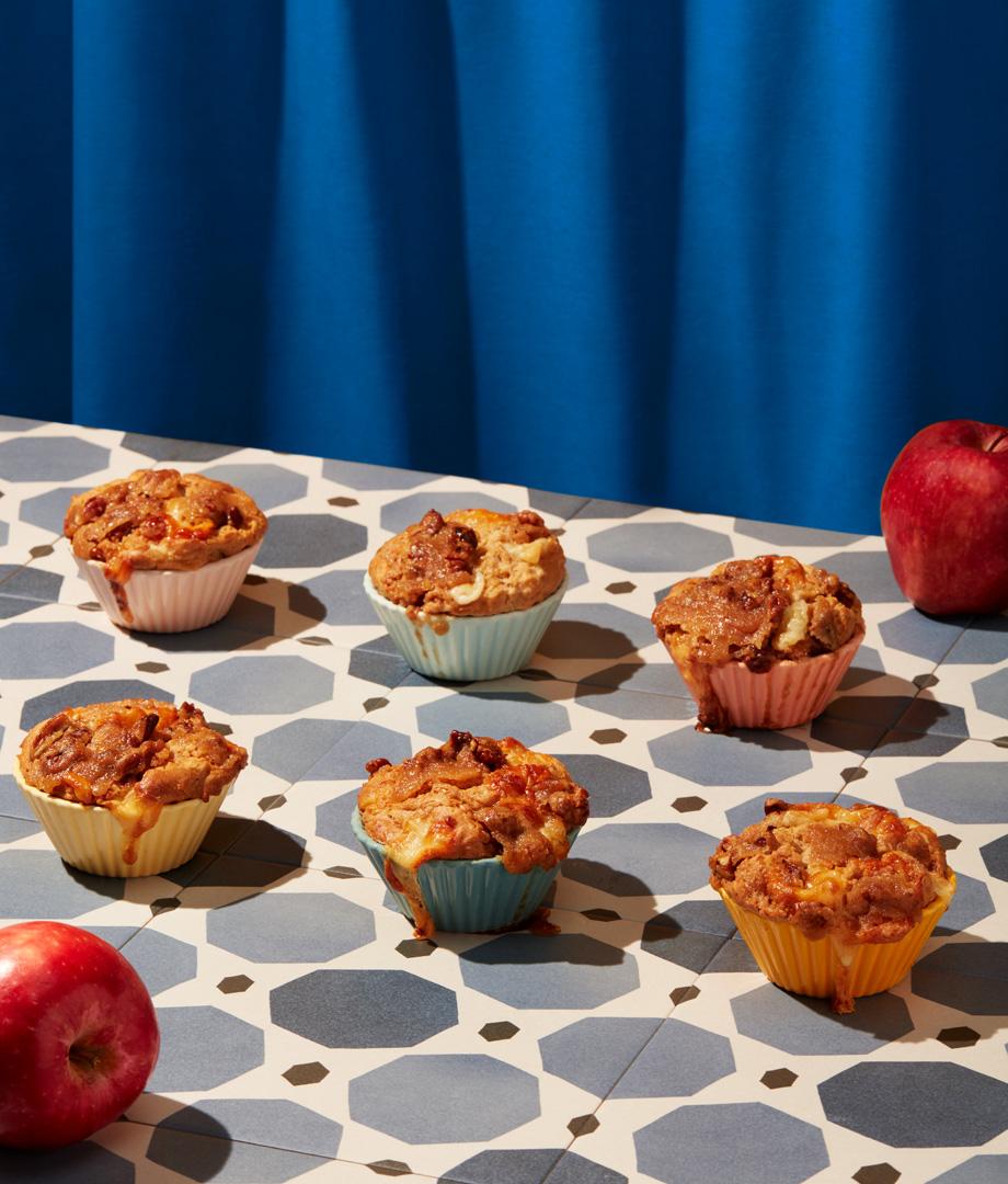 Muffins aux pommes et au fromage