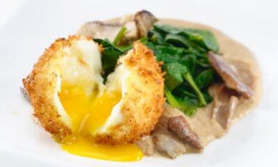 Œuf mollet en croûte de panko à La Brise des Vignerons