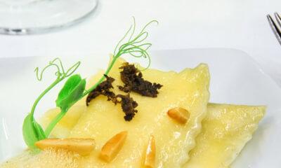 Agnolottis au fromage Le Hermann et au beurre noisette