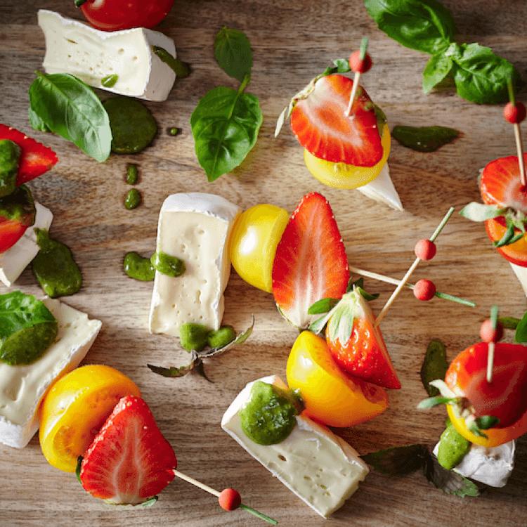 Bouchées de tomates et de fraises à la Douceur du Témiscouata