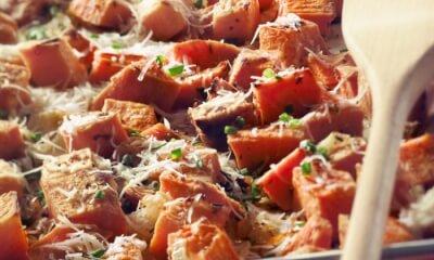 Patates douces rôties à La Tomme des Demoiselles