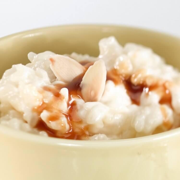 Pouding au riz, camembert d'ici et son caramel à l'anis