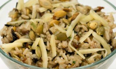 Riz sauvage avec graines de citrouille et Blackburn