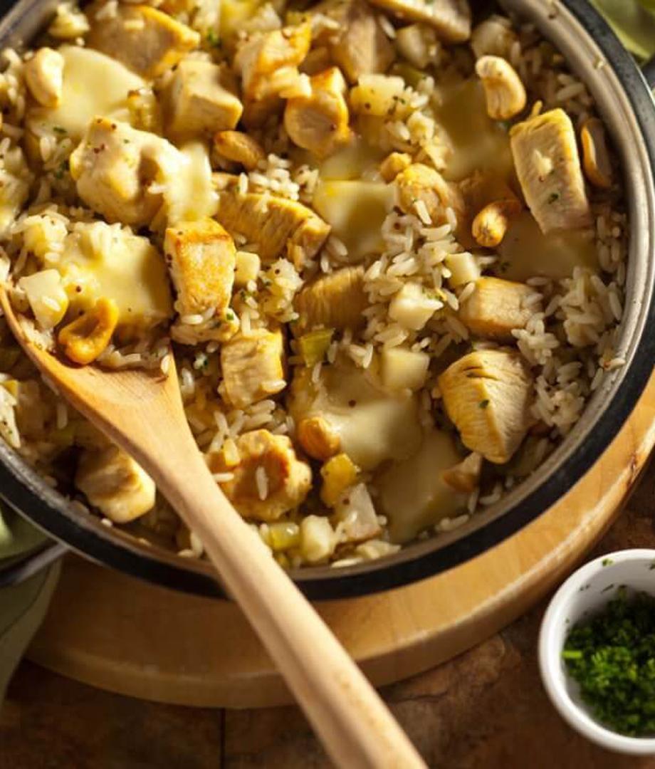 Riz au poulet et fromage
