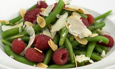 Salade de haricots aux framboises et Le Gré des Champs