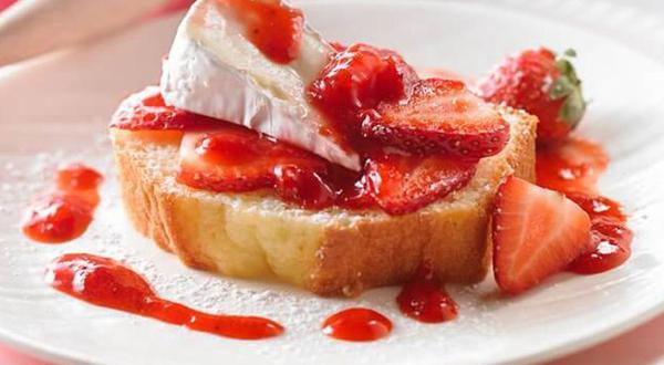 Shortcake aux fraises et brie