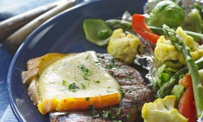 Steak mariné à la bière rousse et au fromage Le Trois-Pistoles
