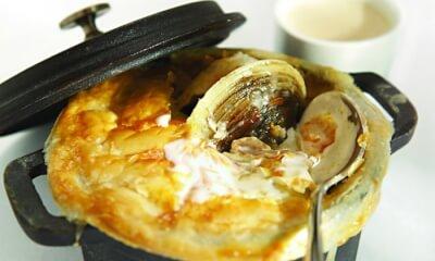Cassolette de palourdes au fromage Le Riopelle de l'Isle