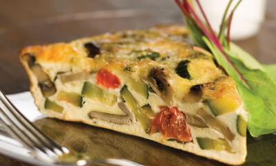 Quiche aux fromages d'ici et aux légumes