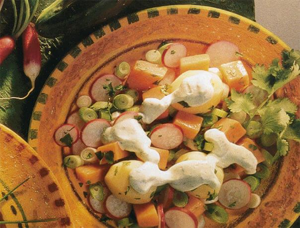 Salade aux 2 pommes de terre
