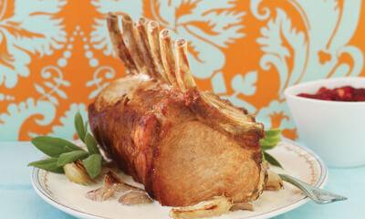 Savoureux carré de porc aux marrons