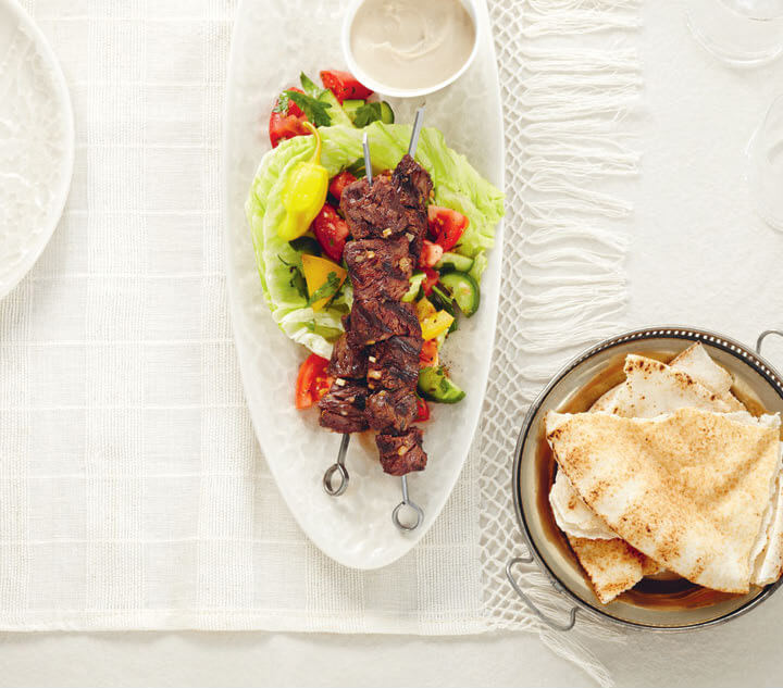 Shawarma libanais – Bœuf grillé mariné au yogourt