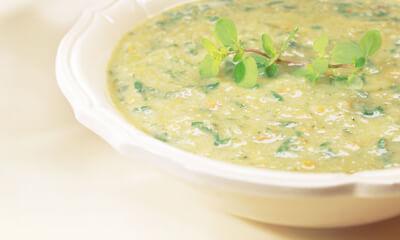 Soupe de haricots et verdure