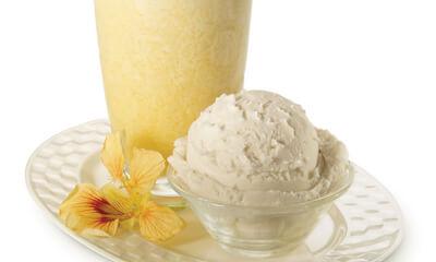 Crème glacée maison miel et cannelle