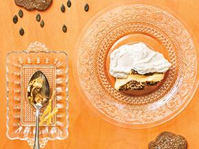 Gâteau-mousse citrouille, érable et gingembre