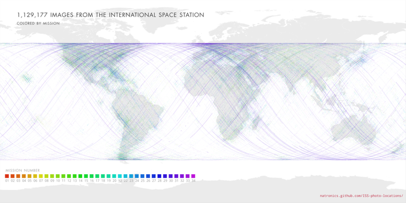 All ISS Missions by Map