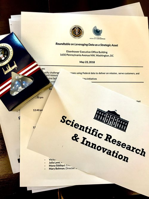 Dr Beth Beck and Jason Duley attend White House Data Roundtable
