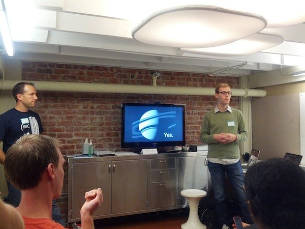 Chris Gerty and I give a Lighting Talk about NASA Datasets