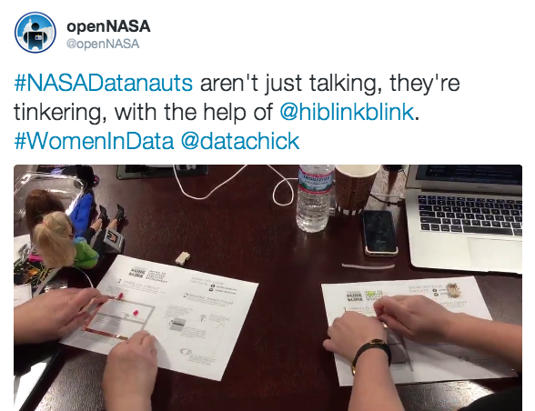 NASA Datanauts Creating Circuits