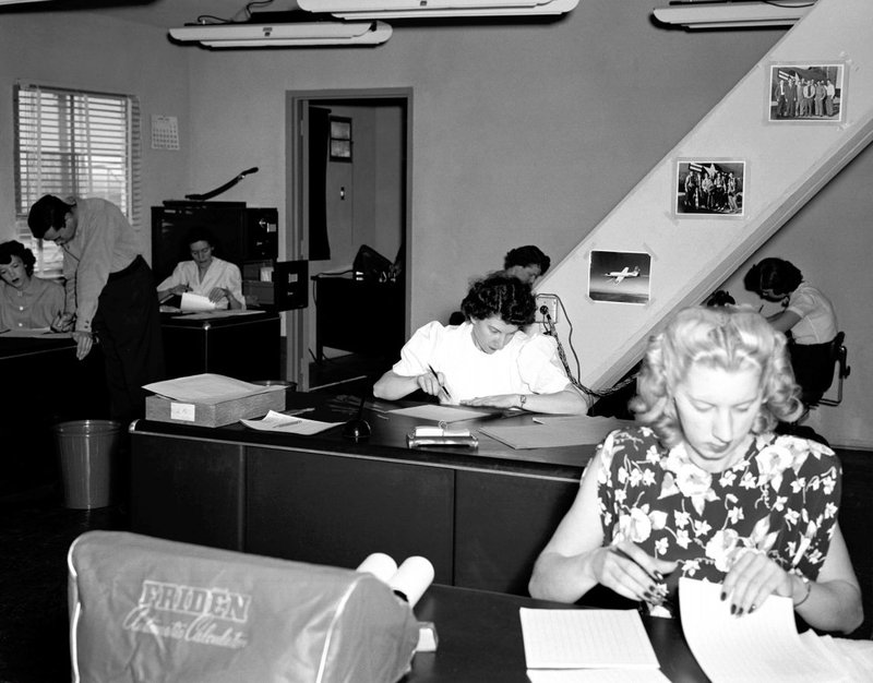 Human computers in the NACA (early NASA) High Speed Flight Station Computer Room