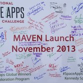 Space Apps MAVEN Launch Poster