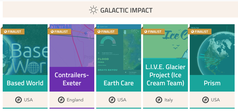 Space Apps 2016 Global Finalists Galactic Impact