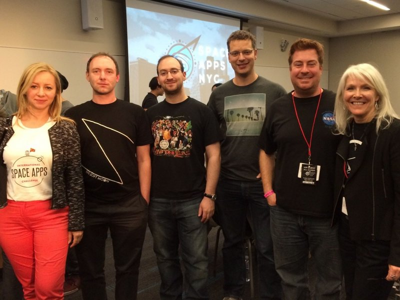 Space Apps 2015 Best Use of Data  Global Award Winning team NYSpaceTag with NASA's Jason Duley and Beth Beck