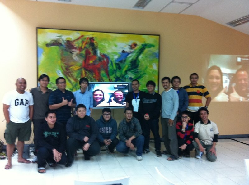 Space Apps Jakarta last year 'hanging out' with astronaut Ron Garan and Space Apps Project Manager Kristen Painting.