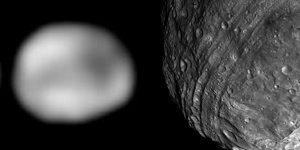 Vesta as seen from Hubble and Dawn (guess which...)