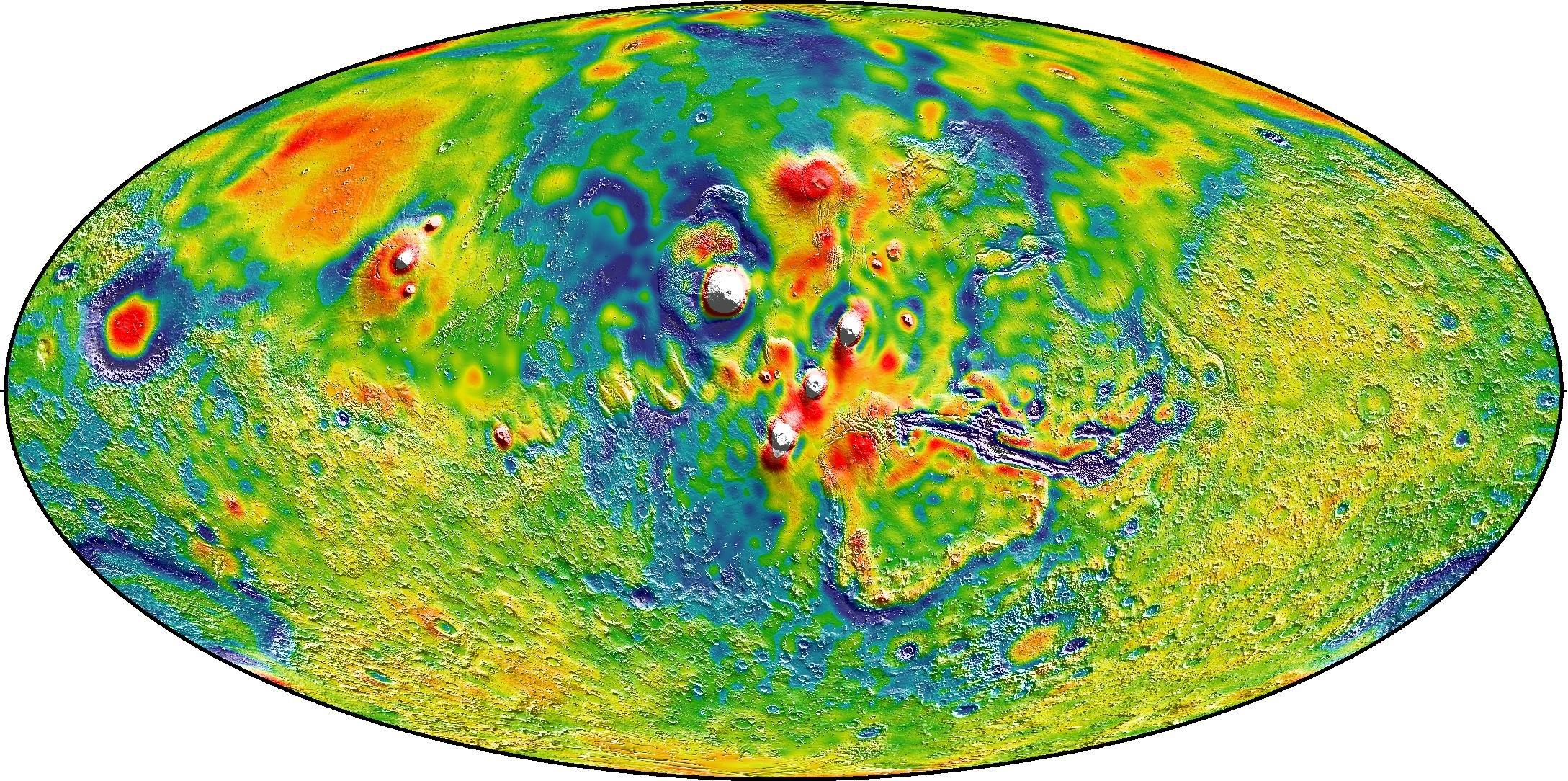 Map of Mars Gravity