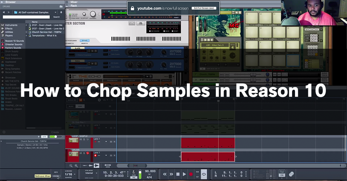 How to Chop Samples in Reason 10