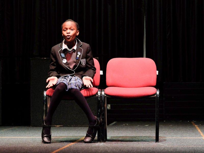 Performing at the drama night