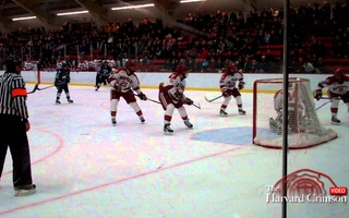 Harvard Hockey Beats Yale 4-3