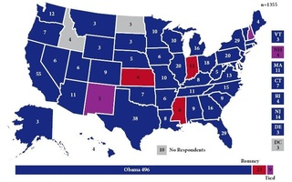 Electoral Map as Reported by The Crimson Student Poll