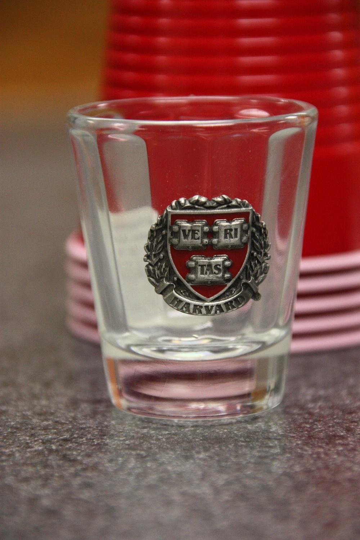 Harvard Shotglass