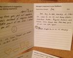 HUDS Comment cards