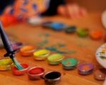 brush and watercolors