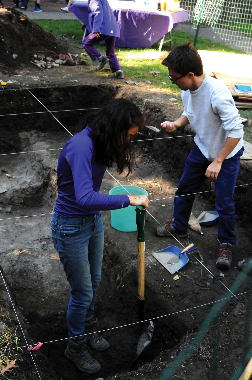 Digging up Harvard Yard