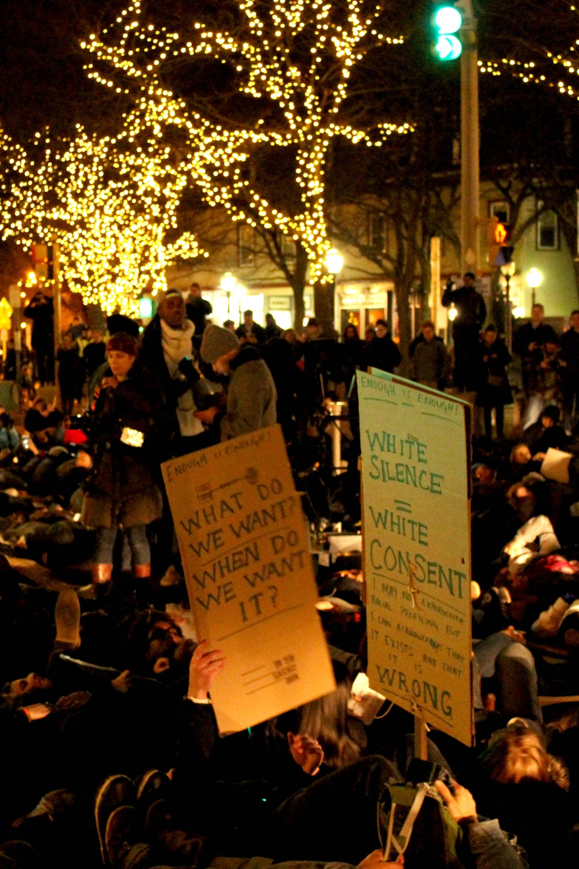 Protest in Davis Square