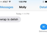 Molly confirms that the wrap is, indeed, delish.