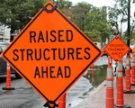 Signs Warn of Road Construction