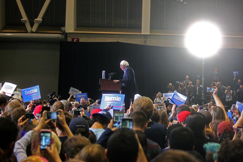 Bernie Sanders in Boston