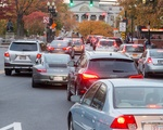 Traffic in Harvard Square