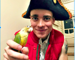 Halloween Costumes: Pirate and a Parrot
