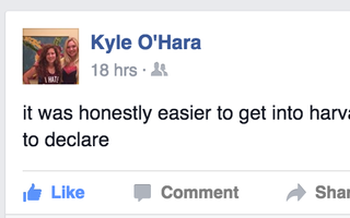 Kyle FB status