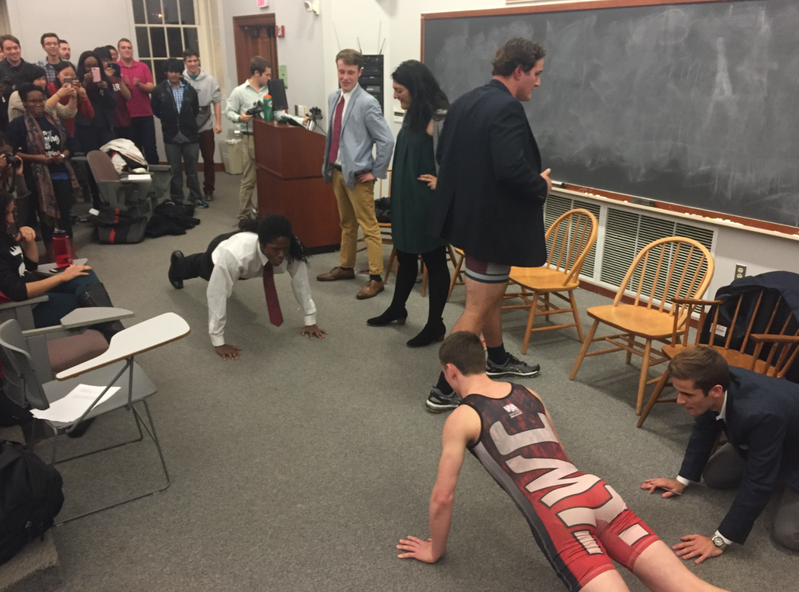 UC debate push up contest