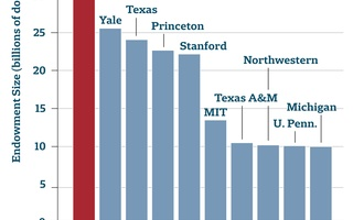 10 Largest University Endowments Graph