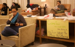 "Occupying ""Belinda Hall"""