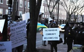 Demonstrations at Visit of Rwandan President Kagame